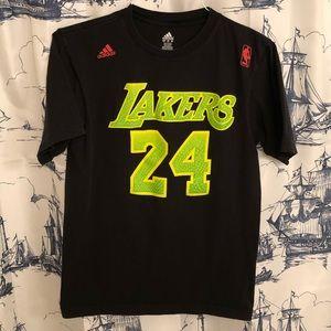 Kobe Bryant RARE Neon Green Lakers Adidas T Shirt